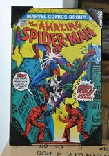 Amazing Spider-man #136 Marvel Comics Silver Buffalo Wood Wall Decor / Art