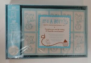 Baby Shower It's A Boy Birth Announcement Blue Kit - New & Sealed