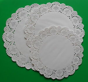 Paper Doilies White Pack of 24 Assorted Doyleys, Lace Style Doiley, Caroline