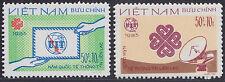 VIETNAM N°468/469** ANNEE DE LA COMMUNICATION,  1983 Vietnam semi postal set MNH
