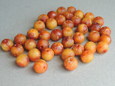 Old Chinese Butterscotch Amber Round Beads for Necklace