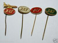 WOW Vintage Yugoslavia JAT Serbian Airlines Aviation Hat Pin Lot of 4 Rare HTF
