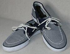 """Polo Ralph Lauren MEN'S Blue & White Plaid """"Lander"""" Sneakers Size 10D US"""