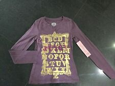 NWT Juicy Couture New & Gen. Plum Long Sleeved Cotton T-Shirt & Logo Girls Age 8