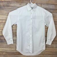 Charles Tyrwhitt Mens White Dress Shirt 15.5 - 35 S Non Iron Classic Fit