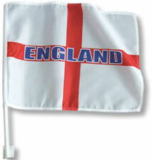 """England St Georges Cross Window Car Flag Banner 15"""" X 10"""" Twin Pack Brand New"""