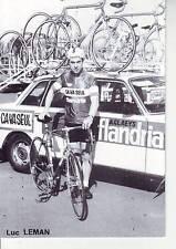 CYCLISME carte LUC LEMAN  (equipe flandria ca va seul )  1979