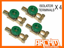 4x BATTERY ISOLATOR TERMINALS / CUT OFF/KILL SWITCH WILL SUIT CTEK/REDARC SYSTEM