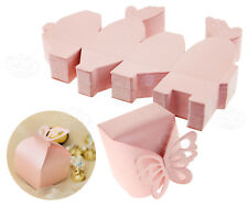 Wedding Favour Boxes Party Sweets Candy Gift Case with Cute Butterfly Tie x50