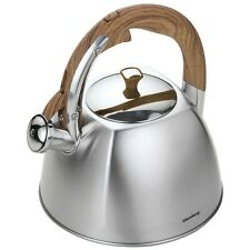 1.7 lt or 3.25 PINTS APPROX,GREY STAINLESS.GAS WHISTLING KETTLE,FAST BOIL