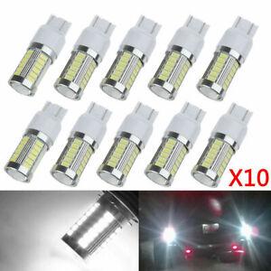 10pcs T20 White Light 7443 5630 5730 33SMD LED Car Brake Tail DRL Stop Bulb Lamp