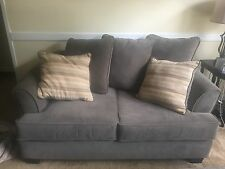 raymour and flanigan microfiber loveseat and ottoman