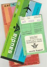 SAUDI ARABIA Passenger Ticket & Boarding Pass with Kuwait Airways Holder 1993