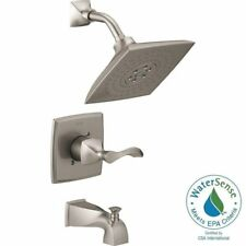 Delta Everly H2Okinetic Single Handle 3 Spray Tub Shower Faucet Brushed Nickel