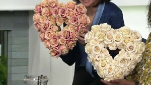 """14"""" Vintage Rose Heart-Shaped Wreath by Valerie"""