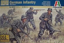 Italeri 6033 1/72 Scale Military Figures Model Kit WWII German Army Infantry