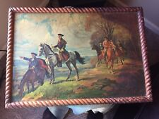 Vintage Wood Tray with George Washington Image