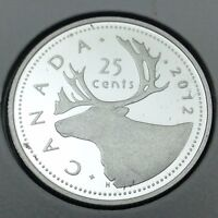 2012 Proof Canada 25 Cents Quarter Silver Canadian Uncirculated Coin C451