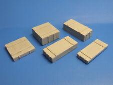 NEU -Kistenset 5. mittelgroße Holzkisten, WK II,RC Panzer,Modellbau Maßstab 1:16