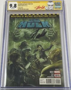 Totally Awesome Hulk #22 Second 2nd Print Autograph Signed Stan Lee CGC 9.8 SS