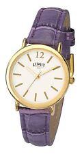 Limit Ladies Classic Watch with Crocodile Skin Style Purple Strap 6238