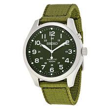 Seiko Kinetic Military Green Green Nylon Strap Mens Watch SKA725P1