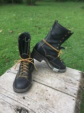 "Wesco Highliner 10"" Work Boots 8.5 D Linesman Biker Riding Work USA Made"