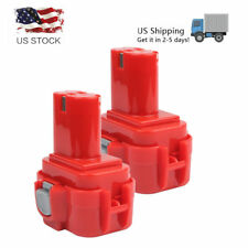 2pcs 9.6 Volt Drill Pod Style Battery for Makita 9120 9122 193977-7 638344-4-2