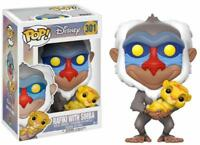 "DISNEY THE LION KING - RAFIKI WITH SIMBA  3.75"" VINYL POP FIGURE FUNKO 301"