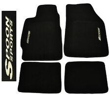 Fit 88-91 Honda Civic / CRX EC ED EF Black Floor Mats Carpet Stitched Spoon