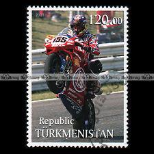 ★ MOTO RACING DUCATI ★ TURKMENISTAN Timbre Moto / Motorcycle Stamp #431