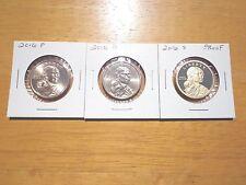 2016 P D S Sacagawea Dollar Proof Native American 3 Coin Set Lot