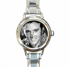 NEW*HOT ELVIS PRESLEY Round Italian Charm Wrist Watch Gift D02