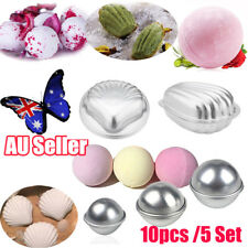 5 Set 10 Pieces Sphere Shell Metal Bath Bomb Molds Fizzy Craft DIY Mould Tool AB