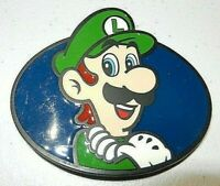 """Mario Bros. """"Luigi"""" Enamel Metal Belt Buckle  -Nintendo"""
