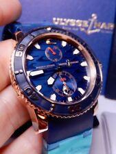Ulysse Nardin Maxi Marine Diver Blue Surf Rose Gold Limited xx/500 100% NIB RARE