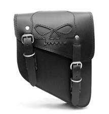 Sacoche laterale cuir tete de mort SKULL ( Harley sportster forty iron XL HD )