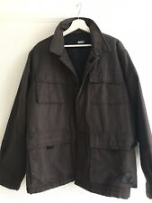 DKNY ACTIVE BROWN JACKET LARGE XMAS WINTER SMART WORK CASUAL SPORT GYM FOOTBALL
