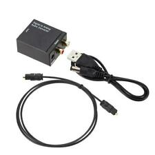 Optical Coaxial Toslink Digital to Analog Audio Converter L/R audio Adapter D8X1