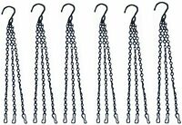 6 Pcs Hanging Chain Flower Pot Chain Hanger,Basket Replacement Chain,19.7In 3...