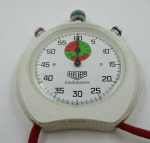 Vintage Heuer White Trackmaster Stopwatch *Spares / Repair* (C941)