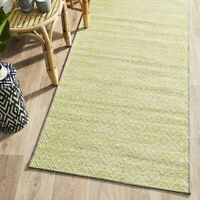 TRIBECA GREEN BOHEMIAN DIAMOND DESIGN MODERN FLOOR RUG RUNNER - 2 Sizes **NEW**
