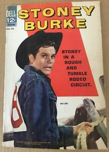 Stoney Burke #1 1963 western comic book Dell Silver Age Jack Lord photo cover