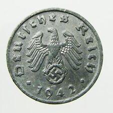 c. 1940's German 1 Reichspfennig, WWII, Germany, Swastika, Nazi Coin