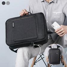 "15.6"" Laptop Backpack Briefcase Waterproof USB Mens School Shoulder Bag Handbag"