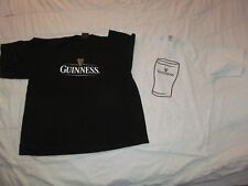 Lot 2 GUINNESS t shirts 1 black & 1 Guiness Oyster Festival Men's XL 23 by 28