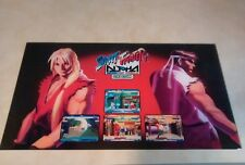 "STREET FIGHTER ALPHA  GIANT CAPCOM   27 - 15 1/4"" arcade game sign marquee"