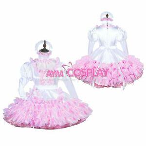 sissy maid Organza-Satin dress cross dressers