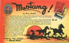 Artist impression Mustang Oren Arnold Postcard linen Teich Lollesgard 10644