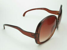 Vintage 70's  Style Super Oversized Huge Brown Oval Round Sunglasses